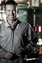 Smiling Mechanic Royalty Free Stock Photo