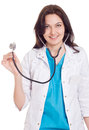 Smiling medical doctor woman Stock Photos