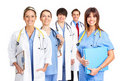 Smiling medical doctors Royalty Free Stock Images