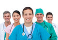 Smiling medical team Stock Photos