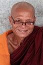 A smiling monk portrait