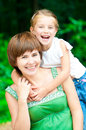 Smiling Mother and daughter Royalty Free Stock Photo