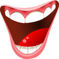 Smiling mouth isolated healthy teeth illustration of with white healthy dentition Royalty Free Stock Images