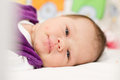 Smiling newborn baby Stock Photos