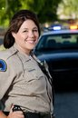 Smiling officer Stock Photos
