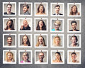 Smiling people portrait of men and women Stock Photo
