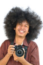Smiling photographer Royalty Free Stock Photography