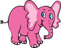 Smiling pink elephant Royalty Free Stock Photo