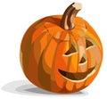 Smiling pumpkin Jack O'Lantern