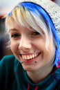 Smiling Punk Rock Funky Girl Royalty Free Stock Photo