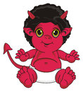 Smiling red demon Royalty Free Stock Photo