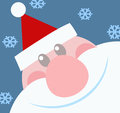 Smiling Santa Claus Head Stock Photo