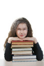Smiling schoolgirl with textbooks Royalty Free Stock Photo