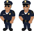 Smiling serious police officer isolated white background Royalty Free Stock Image