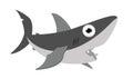 Smiling shark cartoon illustration Royalty Free Stock Image