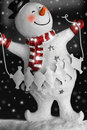 Smiling Snowman with snow Royalty Free Stock Photo