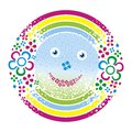 Smiling spring smile tepdy rain rainbow and green Royalty Free Stock Photo