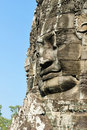 Smiling stone faces in the temple of Bayon Royalty Free Stock Photography