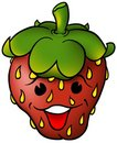 Smiling Strawberry Stock Photo