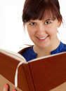 Smiling student woman with book Royalty Free Stock Photos