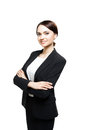 Smiling sucsess business woman portrait. Crossed arms. Royalty Free Stock Photo