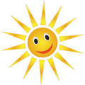Smiling sun Stock Photo