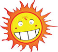 Smiling Sun Cartoon Character Royalty Free Stock Image