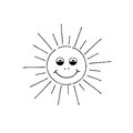 Smiling Sun Cartoon. Summer Ho...