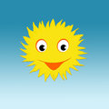 Smiling sun with happy face Stock Photography