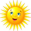 Smiling sun illustration of character Royalty Free Stock Photography