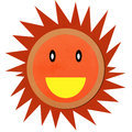 Smiling sun made form clay Royalty Free Stock Image