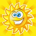 Smiling sun vector illustration gradient mash clip art Royalty Free Stock Photos
