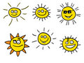 Smiling sunshines Royalty Free Stock Photo
