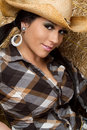 Smiling Teen Cowgirl Royalty Free Stock Images