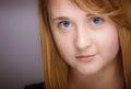 Smiling teen girl closeup
