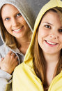 Smiling teenage girls Stock Photography