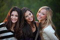 Smiling teens with beautiful white teeth happy Stock Photography