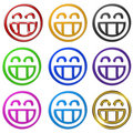 Smiling teeth emoticon Royalty Free Stock Images