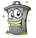 Smiling Trash Can Royalty Free Stock Image