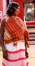 Smiling tribal woman in India Royalty Free Stock Images