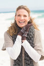 Smiling woman wearing winter clothing Royalty Free Stock Photo
