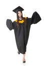 Smiling young asian graduation woman Royalty Free Stock Photo