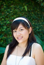 Smiling young Asian woman Royalty Free Stock Photo