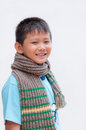 Smiling young boy with scarf. Stock Image