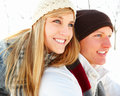 Smiling young couple looking away Royalty Free Stock Photo