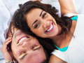 Smiling young couple relaxing Stock Image