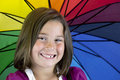Smiling young girl with missing tooth Royalty Free Stock Photo