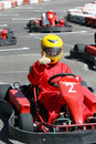 Smiling young  racer Royalty Free Stock Images