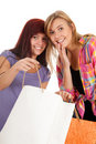 Smiling young woman with shopping bags Stock Image