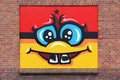 Smily face street art at the hague netherlands Royalty Free Stock Photo